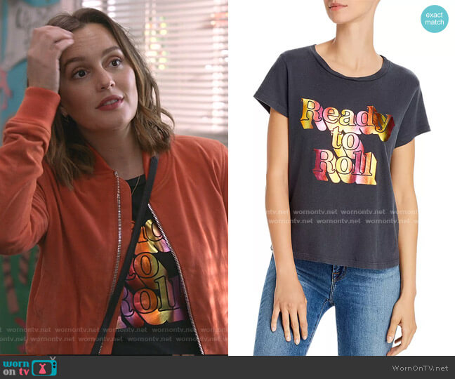 The Boxy Goodie Goodie Foil Graphic Tee by Mother worn by Angie (Leighton Meester) on Single Parents