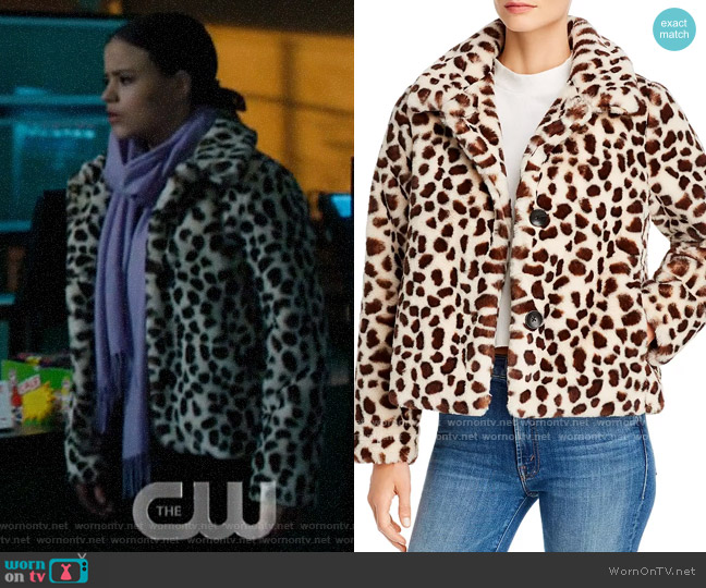 Mother The Ride-A-Long Faux Fur Jacket worn by Maggie Vera (Sarah Jeffery) on Charmed