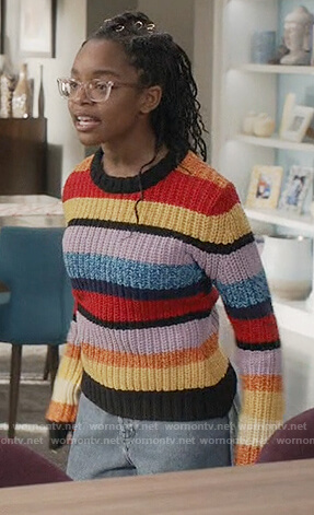 Diane's multicolored stripe sweater on Black-ish
