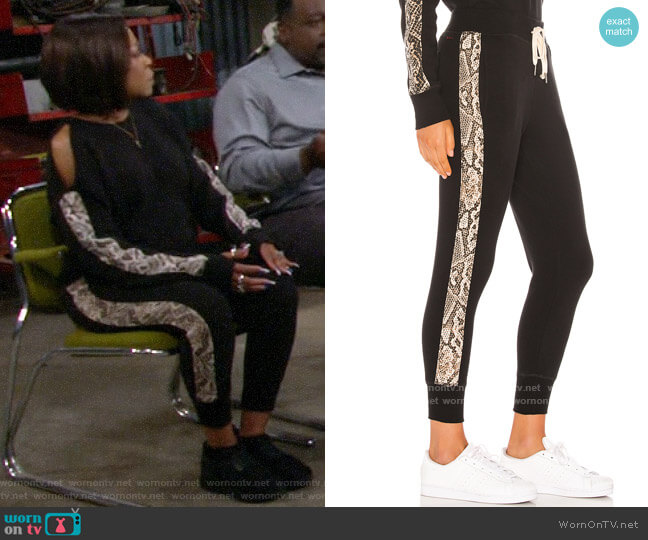 n:Philanthropy Barkley Jogger in Sand Python worn by Tina (Tichina Arnold) on The Neighborhood