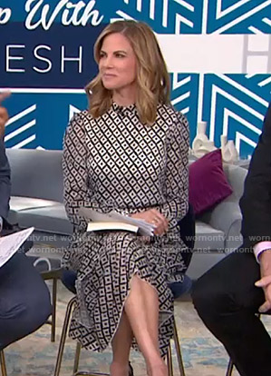 Natalie Morales's geometric print dress on Today