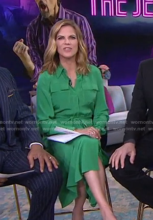 Natalie's green shirtdress on Today