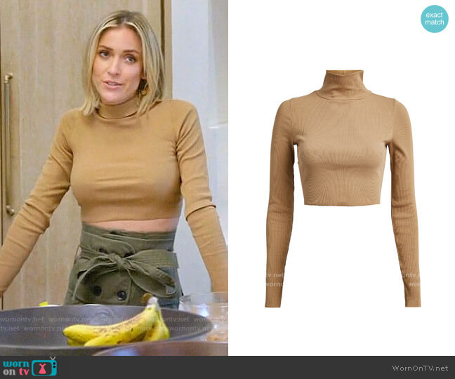 NSF Ribbed Cropped Turtleneck worn by Kristin Cavallari  on Very Cavallari