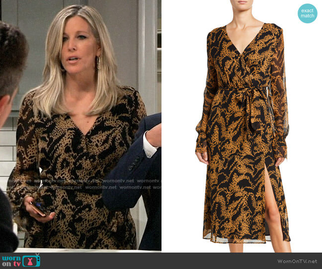 Paige Chamomile Dress worn by Carly Corinthos (Laura Wright) on General Hospital