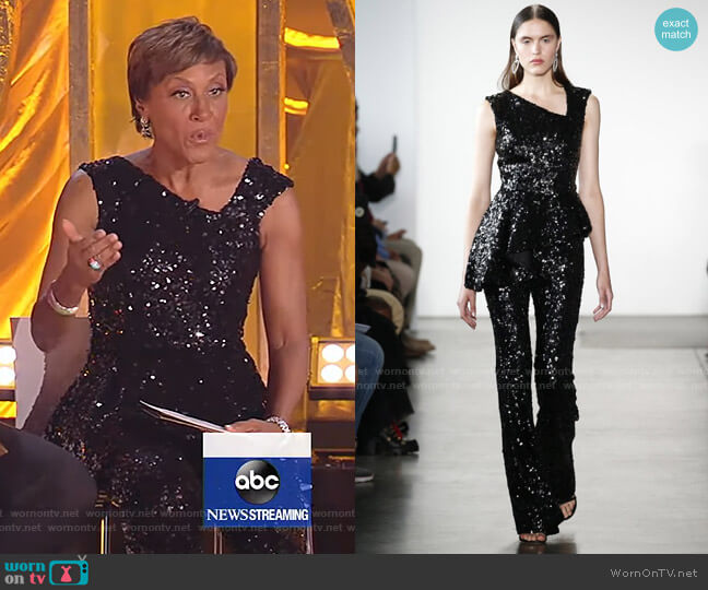 2020 Collection by Pamella Roland worn by Robin Roberts  on Good Morning America