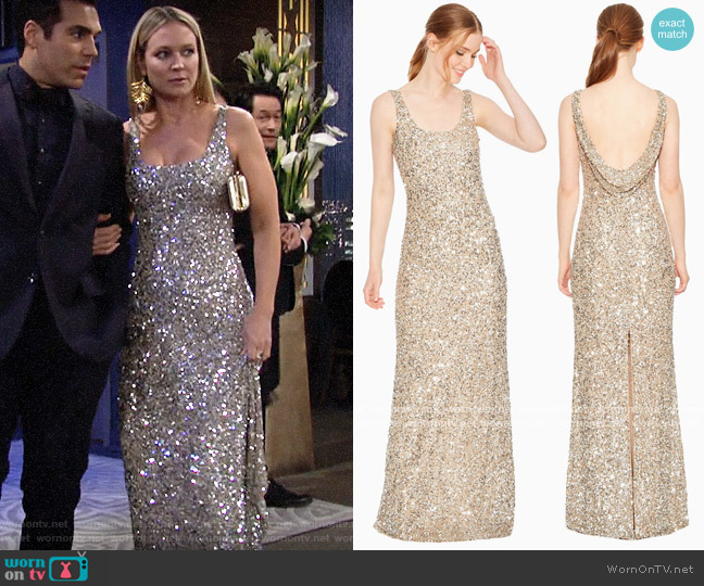 Parker Nicolette Gown worn by Sharon Collins (Sharon Case) on The Young & the Restless