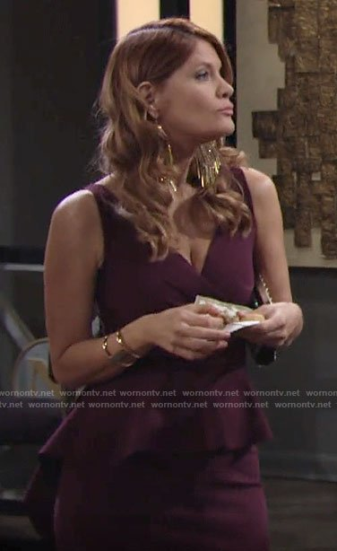 Phyllis's purple peplum gown on The Young and the Restless