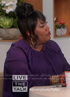 Sheryl's purple dotted blouse on The Talk