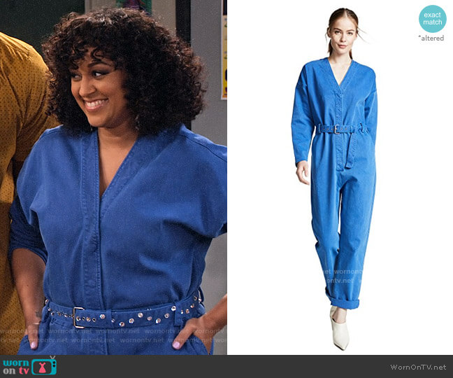 Rachel Comey Glitch Jumpsuit worn by Cocoa McKellan (Tia Mowry-Hardrict) on Family Reunion