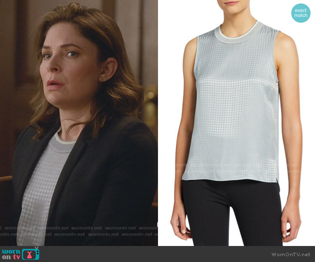Ali Houndstooth Tank by Rag & Bone worn by Taylor Rentzel (MacKenzie Meehan) on Bull