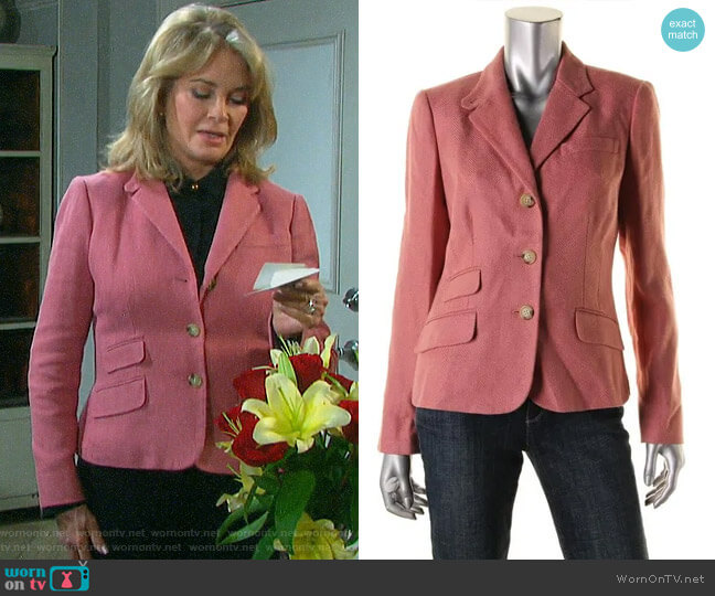 LAUREN Ralph Lauren Notch Collar Knit Blazer worn by Marlena Evans (Deidre Hall) on Days of our Lives