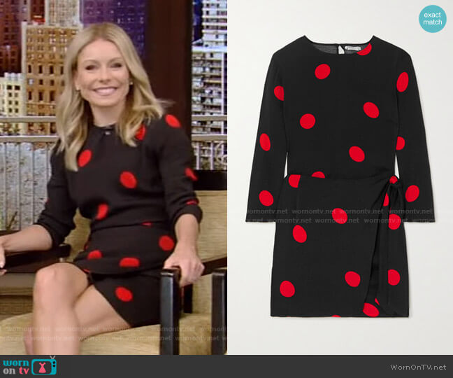 Janae Dress by Reformation worn by Kelly Ripa  on Live with Kelly & Ryan