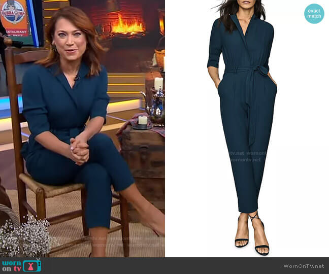 Freya Jumpsuit by Reiss worn by Ginger Zee  on Good Morning America