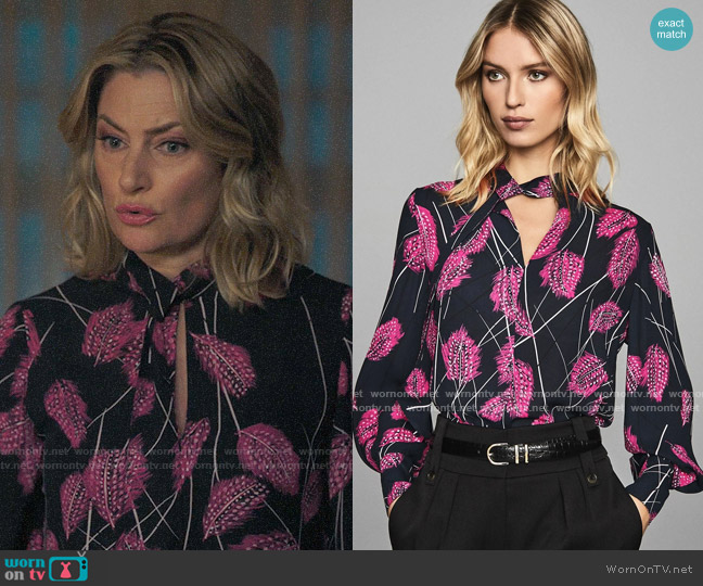 Reiss Lily Blouse worn by Alice Cooper (Mädchen Amick) on Riverdale