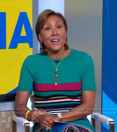 Robin's green striped dress on Good Morning America