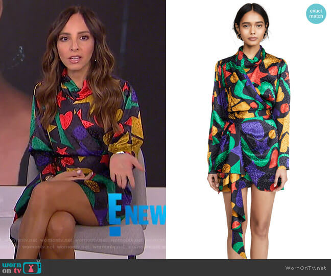 Yarden Dress by Ronny Kobo worn by Lilliana Vazquez  on E! News
