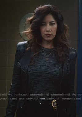 Rosa's black leather jacket on Brooklyn Nine-Nine