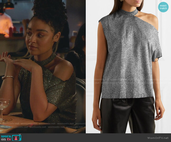 Axel Top by RtA worn by Kat Edison (Aisha Dee) on The Bold Type