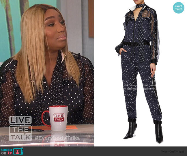 Polka Dot Print Jumpsuit by Sacai worn by Nene Leakes on The Talk
