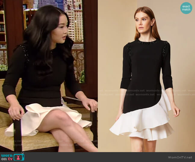 Vanessa Dress by Sachin & Babi worn by Lana Condor on Live with Kelly and Ryan worn by Kelly Ripa  on Live with Kelly & Ryan