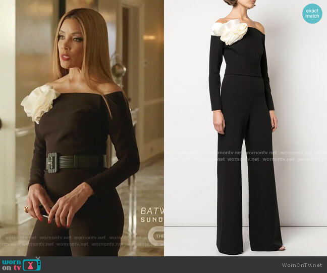 Wide Leg Jumpsuit by Safiyaa worn by Dominique Deveraux (Michael Michele) on Dynasty