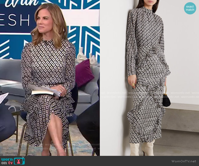 Alek Midi Dress by Saloni worn by Natalie Morales  on Today