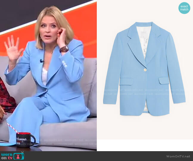 Tailored Jacket by Sandro worn by Sara Haines  on Good Morning America