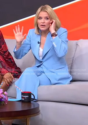 Sara's light blue suit on GMA Strahan Sara And Keke