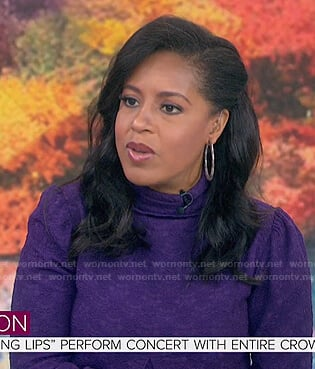 Sheinelle's purple textured dress on Today