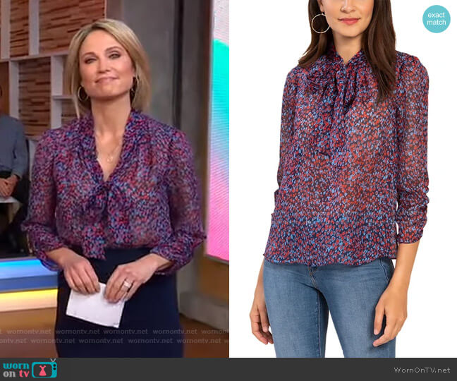 Layne Top by Shoshanna worn by Amy Robach  on Good Morning America