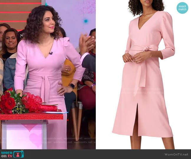 Damia Dress by Shoshanna worn by Cecilia Vega  on Good Morning America