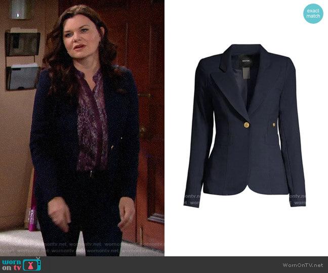 Smythe Duchess Blazer worn by Katie Logan (Heather Tom) on The Bold & the Beautiful