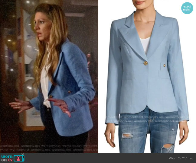 Smythe Duchess Blazer in Cloud worn by Ava Sharpe (Jes Macallan) on Legends of Tomorrow