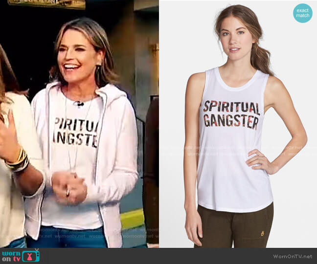 Floral Print Muscle Tank by Spiritual Gangster worn by Savannah Guthrie  on Today