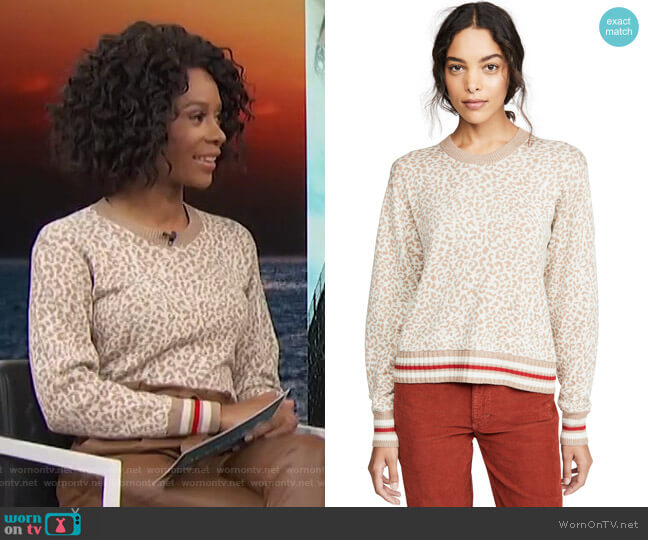 Leo Pullover by Splendid worn by Zuri Hall  on Access Hollywood