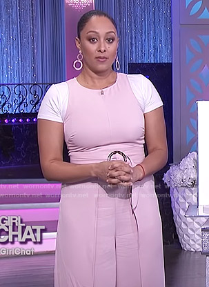 Tamera's pink belted jumpsuit on The Real
