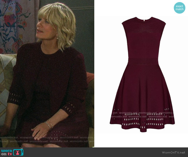 Ted Baker Aurbray Knit Skater Dress worn by Kayla Brady (Mary Beth Evans) on Days of our Lives