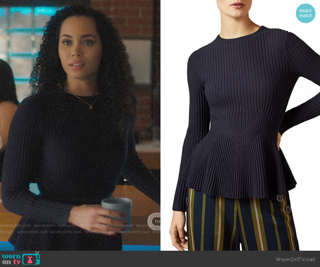 Ted Baker Jariala Sweater worn by Macy Vaughn (Madeleine Mantock) on Charmed