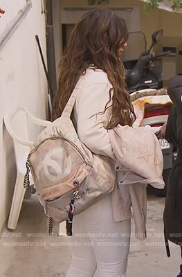 Teresa's graffiti backpack on The Real Housewives of New Jersey