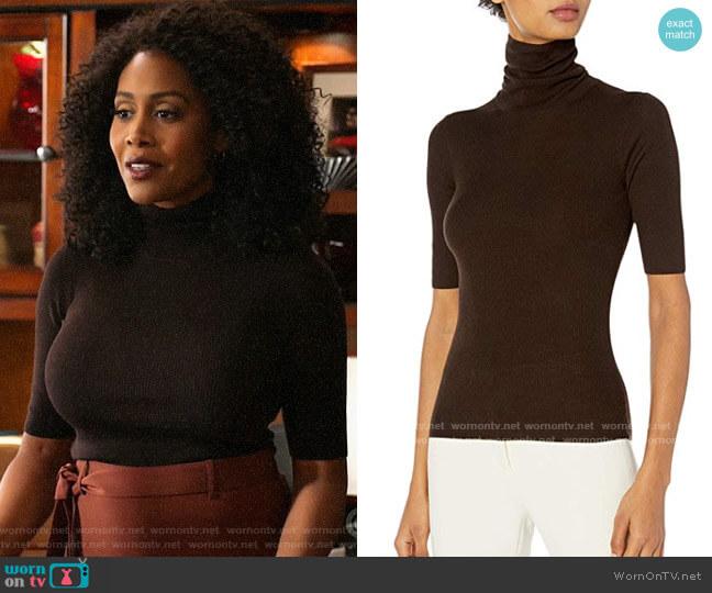 Theory Leenda Turtleneck Sweater worn by Lola Carmichael (Simone Missick) on All Rise