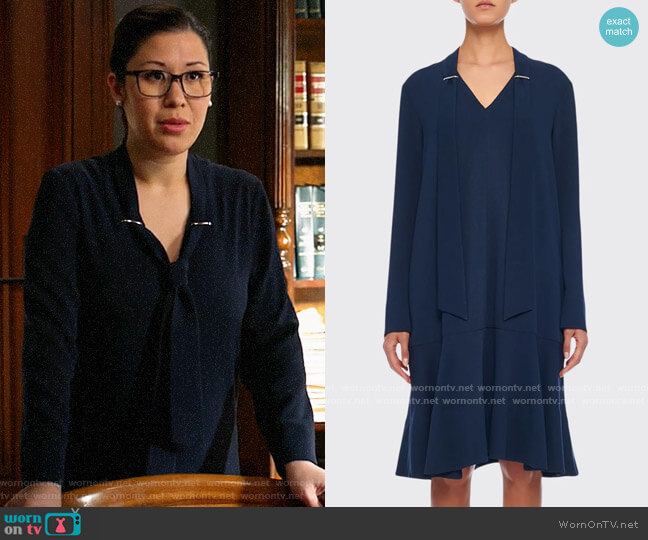 Tibi Savannah Dress worn by Sherri Kansky (Ruthie Ann Miles) on All Rise