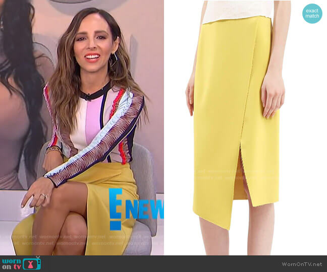 Crepe Wrap Skirt by Topshop worn by Lilliana Vazquez  on E! News