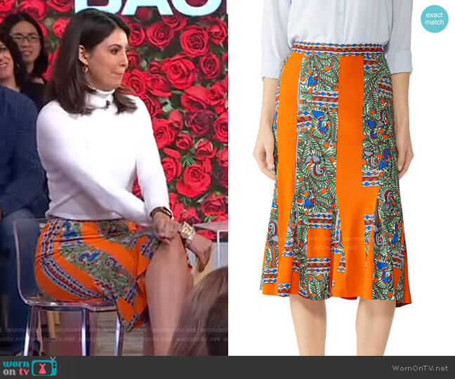 Jada Skirt by Tory Burch worn by Cecilia Vega  on Good Morning America