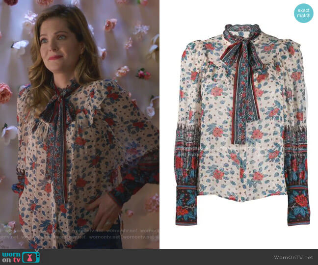 Antoine Blouse by Ulla Johnson worn by Sutton (Meghann Fahy) on The Bold Type
