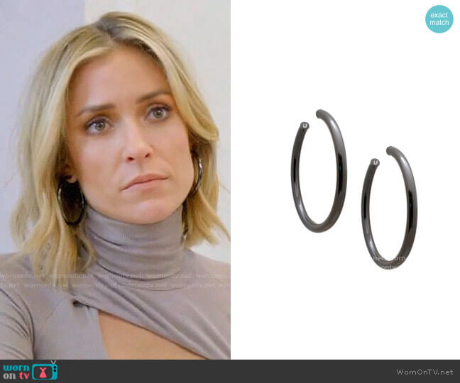 Uncommon James Gunmetal Hoops worn by Kristin Cavallari  on Very Cavallari