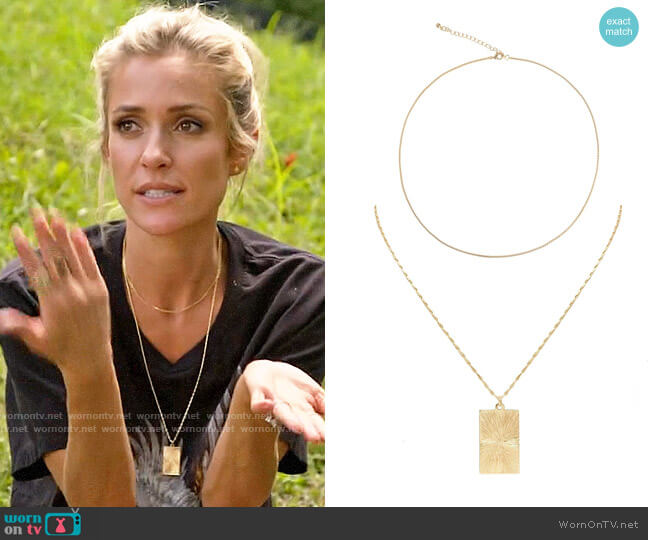Uncommon James Chain and Queens Necklaces worn by Kristin Cavallari  on Very Cavallari