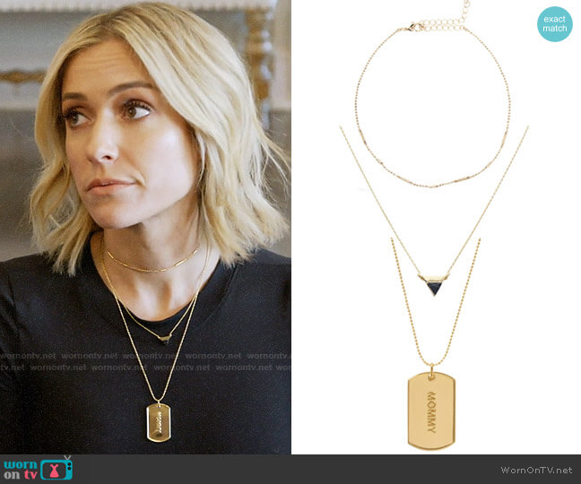 Uncommon James Ready to Mingle, Stormy, and Mommy Necklaces worn by Kristin Cavallari  on Very Cavallari
