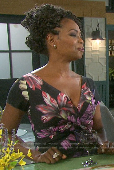 Valerie's floral knotted front dress on Days of our Lives