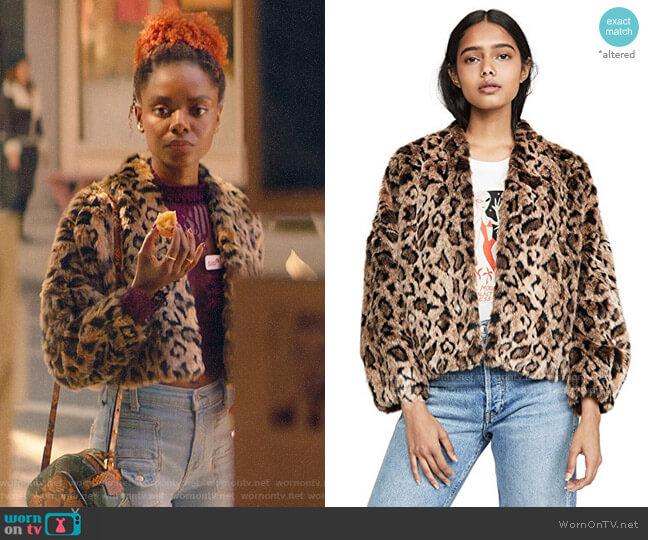 Velvet Anne Faux Fur Jacket worn by Josie McCoy (Ashleigh Murray) on Katy Keene