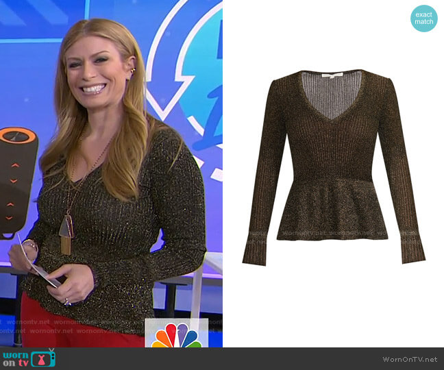 Esmeralda Sweater by Veronica Beard worn by Jill Martin  on Today